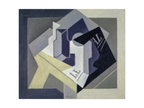 Fruit Bowl and Newspaper Giclee Print by Juan Gris