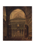 Interior of the Temple in Jerusalem, 1821 Giclee Print by Maxim Nikiphorovich Vorobyev