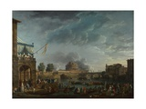 A Sporting Contest on the Tiber at Rome, 1750 Giclee Print by Claude Joseph Vernet