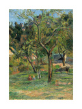An Orchard under the Church of Bihorel, 1884 Giclee Print by Paul Gauguin