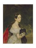 Portrait of Ulyana M. Smirnova, 1837-1840 Giclee Print by Karl Pavlovich Briullov