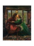 Paolo and Francesca Da Rimini, 1867 Giclee Print by Dante Gabriel Rossetti