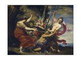 Father Time Overcome by Love, Hope and Beauty, 1627 Giclée-Druck von Simon Vouet
