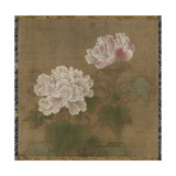 Red Hibiscuses (Set of Two Hanging Scroll), 1197 Giclee Print by  Li Di