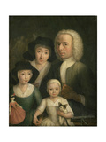 Self-Portrait with Suzanna Van Bommel and Two Daughters Giclee Print by Hendrik Spilman
