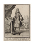 Composer Jean-Baptiste Lully, before 1711 Giclee Print by Henri Bonnart