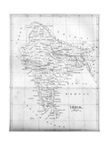 Map of India, 1847 Giclee Print