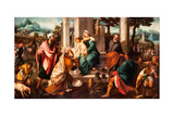 The Adoration of the Magi, Early16th C Giclee Print by Bonifacio Veronese