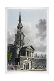 St Leonard's Church, Shoreditch, London, 1814 Giclee Print by Thomas Hosmer Shepherd