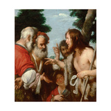 The Sermon of Saint John the Baptist, C. 1644 Giclee Print by Bernardo Strozzi