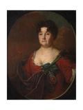 Portrait of Countess Anastasia Petrovna Golitsyna (1665-172), Née Prozorovskaya, 1728 Giclee Print by Andrei Matveyevich Matveyev