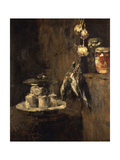 Still Life with Partridges and Cheese, after 1884 Giclee Print by Carl Schuch