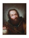 Portrait of Christopher Columbus Giclée-tryk af Giuseppe Nogari