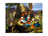 The Interrupted Pilgrimage (The Sick Pilgri), 1858 Giclee Print by Ferdinand Georg Waldmüller