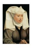Portrait of a Woman with a Winged Bonnet, C. 1440 Giclée-Druck von Rogier van der Weyden