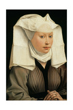 Portrait of a Woman with a Winged Bonnet, C. 1440 Giclee Print by Rogier van der Weyden