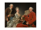 John Jennings, His Brother and Sister-In-Law, 1769 Giclee Print by Alexander Roslin
