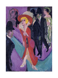 Street with Red Streetwalker, 1914-1925 Giclee Print by Ernst Ludwig Kirchner