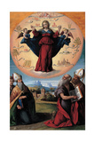 The Immaculate Conception with Saints, C. 1535-1550 Giclee Print by Benvenuto Tisi Da Garofalo