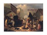 Refreshment Stall in St. Petersburg, 1858 Giclée-Druck von Adrian Markovich Volkov