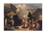 Refreshment Stall in St. Petersburg, 1858 Giclee Print by Adrian Markovich Volkov