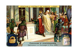 The Crowning of Charlemagne in Rome 800 Giclee Print