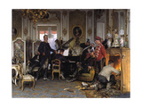 In the Troops' Quarters Outside Paris, 1894 Giclee Print by Anton von Werner