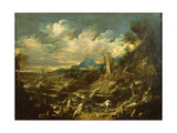 Landscape with Stormy Sea, Ca 1720 Giclée-tryk af Alessandro Magnasco