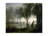 Orpheus Leading Eurydice from the Underworld, 1861 Giclee Print by Jean-Baptiste Camille Corot