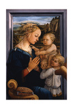 Madonna and Child with Two Angels, 1460S Giclée-tryk af Fra Filippo Lippi