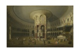 London: Interior of the Rotunda at Ranelagh, 1754 Giclee Print by  Canaletto