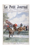 The Water Jump at the Steeplechase, Auteuil, 1903 Giclee Print