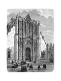 Entrance to the Cathedral of Mexico City, Late 19th Century Giclee Print