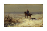 On the Hunting, Second Half of the 19th C Giclee Print