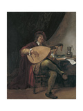 Self-Portrait Playing the Lute, Ca 1665 Giclee Print