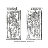Toltec Sculptures, Mexico, 19th Century Giclee Print by  Sellier