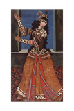 Dancing Girl with Castanets, Early 19th C Giclee Print