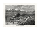 Salsburg, from the Kapuzinerberg, Austria, 19th Century Giclee Print by  Taylor