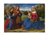 The Virgin and Child Adored by Two Angels, C. 1505 Giclee Print by Andrea Previtali