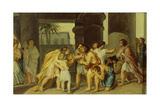 Joseph Reveals Himself to His Brothers, 1830S Giclee Print by Alexander Andreyevich Ivanov