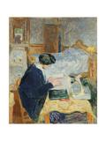 Lucy Hessel Reading (Lucy Hessel Lisan), 1913 Giclee Print by Édouard Vuillard