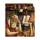 Saint Jerome in His Study (Detail), 1480 Giclée-tryk af Domenico Ghirlandaio