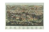 The Jerusalem Map (Vue Générale De Jérusalem Historique Et Modern), Ca 1862 Giclee Print by Adolf Eltzner