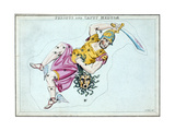 Constellation of Perseus, Showing Him Carrying the Head of Medusa, C1820 Giclee Print