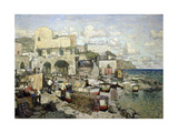 View of the Capri Island Giclee Print by Konstantin Ivanovich Gorbatov