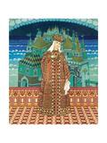 Militrissa. Costume Design for the Opera the Tale of Tsar Saltan by N. Rimsky-Korsakov Giclee Print by Ivan Yakovlevich Bilibin
