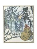Illustration for the Fairy Tale Morozko, 1932 Giclee Print by Ivan Yakovlevich Bilibin
