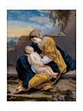 Madonna and Child in a Landscape, 1621-1624 Giclée-tryk af Orazio Gentileschi