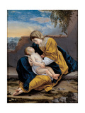Madonna and Child in a Landscape, 1621-1624 Giclee Print by Orazio Gentileschi