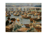 On the Alster in Hamburg, 1910 Giclee Print by Max Liebermann
